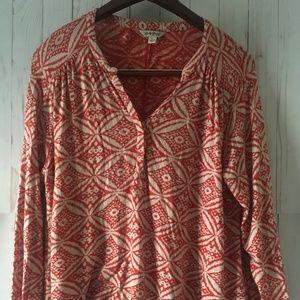 Lucky Brand Women's Paisley Long Sleeve Shirt